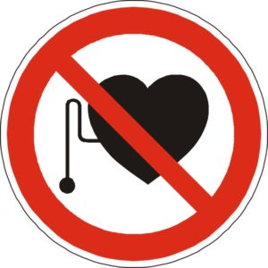 no heart pacemakers