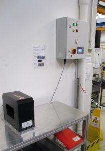 LM14 et bobine SSM03 pour la démagnétisation manuelle de pièces en vrac.