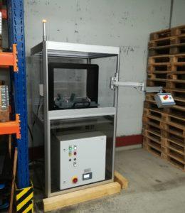 LM68 avec bobine SSM12 pour la démagnétisation de pièces en acier de différentes dimensions. Réalisation de la cartérisation par le client.